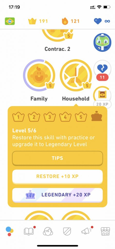 Duolingo Diamond League go Legendary